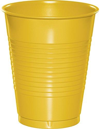Creative Converting PREMIUM PLASTIC CUPS 16 OZ, School Bus Yellow
