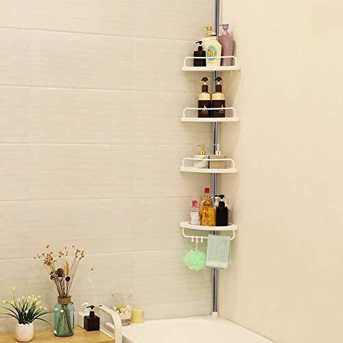 iWork Estanteria de baño para Ducha con 4 estantes y de Altura Ajustable de 1 m a 3,2 m.