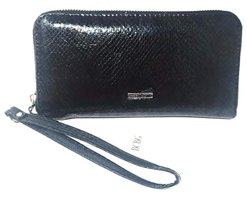 BCBGeneration Women's Zip Around Wristlet Wallet Allison, Color: Black
