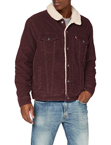 Levi's Herren Type 3 Sherpa Trucker-Jacke, Rot (All Spice), Small