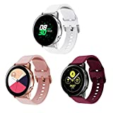 ①【Perfect Fit】The silicone bands works for Samsung Galaxy Watch Active/Active 2 Smart Watch. It's suitable for your precious watch perfectly . Watch not included. ②【Material】The watch band compatible for Samsung Galaxy Watch Active/Active 2 is made o...