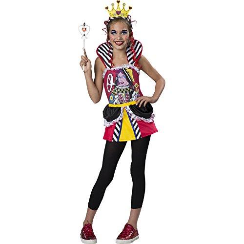 Queen of Hearts Costume – Child / Tween – Girl's Size Large (10-12)