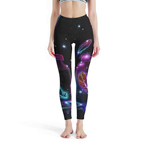 YxueSond Skinny Slim Fit Yoga leggings dames veergalaxie joggingbroek voor hardlopen