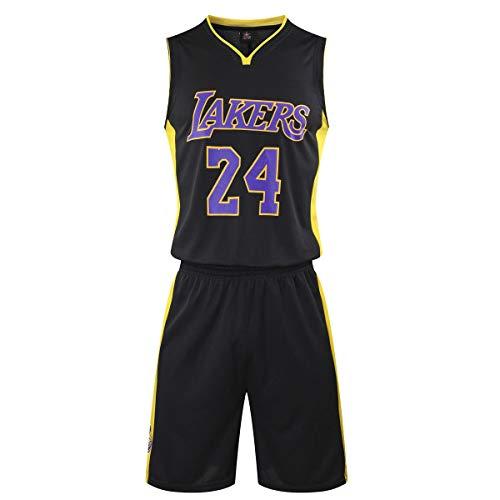 Huha Camisetas de Baloncesto para Hombre NBA Kobe Bean Bryant # 24 LA Lakers Retro Camisetas de Baloncesto Adultos Trajes de Verano Kits Uniforme de Baloncesto