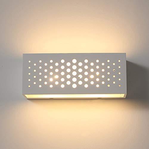 Decoratie LED Moderne minimalistische hal slaapkamer woonkamer creatieve energiebesparende wandlamp honingraat holle gips lampenkap persoonlijkheid mode wit 110-240 V (25 * 10 * 9 cm) Villa