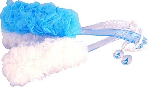 Lot de 3 brosses à dos à fleur de douche - Accessoire de salle de bain pour nettoyage du corps
