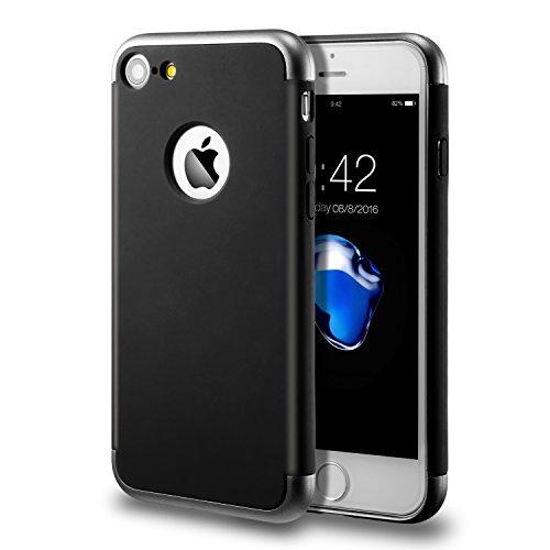 Apple iPhone 7 Custodia ( 4.7 pollici) 3 in 1 Antiurta Sottilissima Dura Protettiva Custodia Cover Case per Apple iPhone 7 Bumper Back custodia(nero)