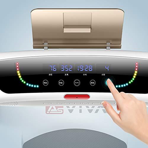 AsVIVA Laufband T21 kompakt - Heimtrainer mit Touchscreen Computer, 3,5PS energieeffizienter Motor bis zu 12km/h, Bluetooth für MP3/Audio, Pulsempfänger inkl. Brustgurt | Fitnessgerät kompakt klappbar