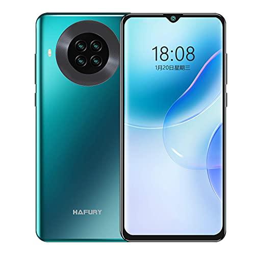 HAFURY K30 Teléfono Móvil, 6,5 Pulgadas 3GB RAM+128GB ROM Batteria de 4200mAh Cámara cuádruple Smartphone Android 10.0 Dual SIM Suporte de Face ID NFC, Verde