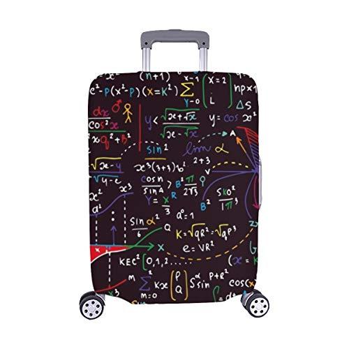 (Solo Cubrir) Matemáticas Educación Fórmula Manuscrita Maleta con Ruedas Maleta Protectora para Equipaje de Viaje Cubierta Protectora para 28.5 X 20.5 Inch