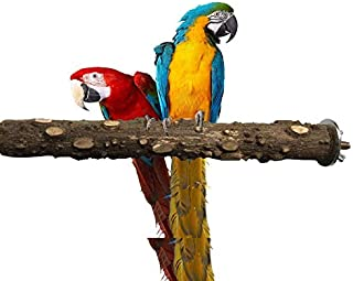 ANTOLE 20cm Parrot Bird Natural Logs Branch Bird Bite Claw Grinding Pepper Wood Standing Stick Perches Wood Portable Toy