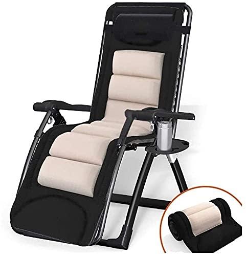 Silla de gravedad cero reclinable silla plegable sillón sillas de césped reclinación cero gravedad sillas cero gravedad salón sillón Supply 420lbs, para patio de cubierta Playa Piscina Piscina Césped