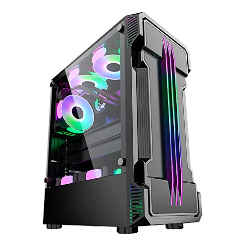 XINKO ATX PC Gaming Case-6pcs 120mm Fans Digital- 2 Paneles de Vidrio Templado - Carcasa de Escritorio para chasis de computadora