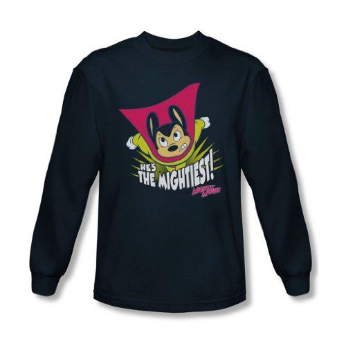 Mighty Mouse - Les hommes du T-shirt à manches longues Mightiest dans la marine, X-Large, Navy