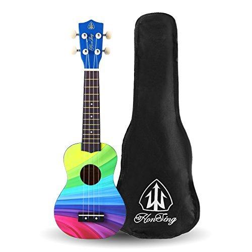 Honsing Kids Ukulele,Soprano Ukulele Beginner,Hawaii kids Guitar Uke Basswood 21 inches with Gig Bag