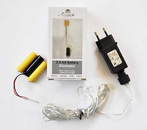 Coen Bakker Batterie Adapter 1 x 3 AA Mignon Batterien 4,5V Wandler 4m Kabel Netzteil