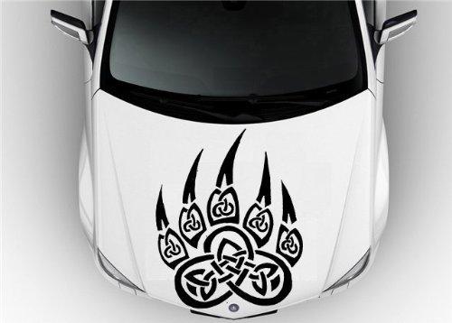 Hood Auto Car Vinyl Decal Stickers Animals Tribal Celtic Bear PAW Husky Dog Wolf 7118
