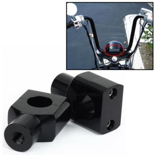 """Par 1"""" 25mm Soporte Elevador de Manillar de Motocicleta Eelevación del Manillar, Adaptador de Instalación Abrazadera puesto alzas"""