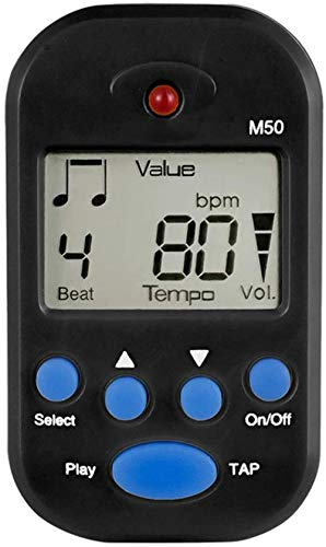 Metronome Universal Chargeable LCD Display Digital Metronome for Piano Mechanical Metronome Music Accessories (Color : White Size : Free Size)-Free Size_Black Excellent