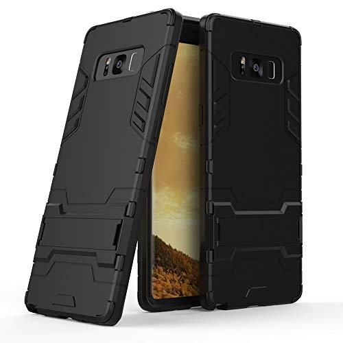 Preisvergleich Produktbild COOVY® Cover für Samsung Galaxy Note 8 SM-N950 / SM-N950F / SM-N950FD Bumper Case,  Doppelschicht aus Plastik + TPU-Silikon,  extra stark,  Anti-Shock,  Standfunktion / Farbe schwarz