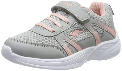 KangaROOS Unisex-Kinder Inko EV Sneaker, Grau (Vapor Grey/English Rose 2043), 35 EU