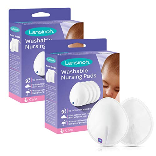 Lansinoh Reusable Nursing Pads for Breastfeeding Mothers, 8 Pads