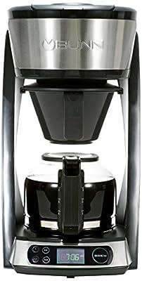 BUNN Heat N Brew Programmable Coffee Maker, 10 cup, Stainless Steel