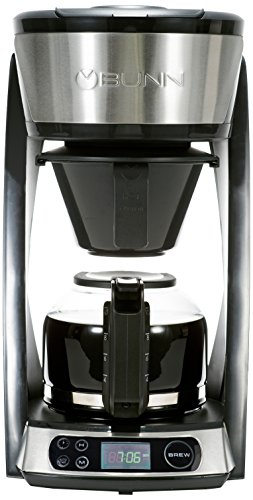 BUNN Heat N Brew Programmable Coffee Maker, 10 cup, Stainless Steel