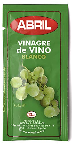 Sobre Vinagre de Vino Blanco Abril 10 ml - Caja de 150...