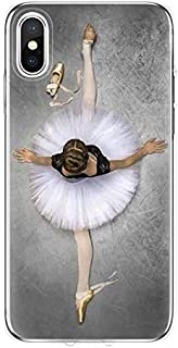 Twinlight Sexy Ballet Dancing Girls Ballerina Ballet Case for iPhone X Xs Max XR 6s 7 8 Plus (E, for iPhone 7plus 8plus)