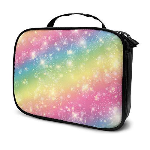 Sacs à cosmétiques pour les voyages des femmes, Étui à crayons Rainbow Starry Sky