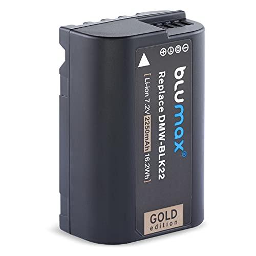 Blumax Batería dorada equivalente a DMW-BLK22 BLK22E 2250 mAh 7,2 V 16,2 Wh compatible con Panasonic DC S5 S5K G9 GH5 GH5 II GH5S