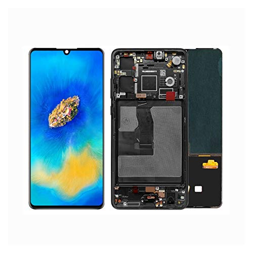 Retina LCD Digitalizador Pantalla De Teléfono Móvil Fit For Huawei P30 ELE-L29 ELE-L09 Pantalla Digitalizador De Pantalla Táctil ELE-L09 ELE-AL00 (Color : Aurora Blue Frame)