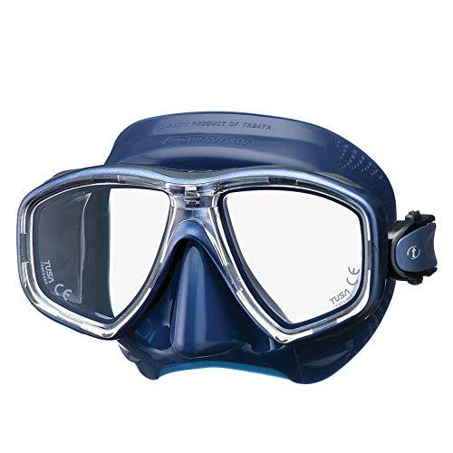 TUSA M-212 Freedom Ceos Scuba Diving Mask, Indigo Skirt/Indigo Frame