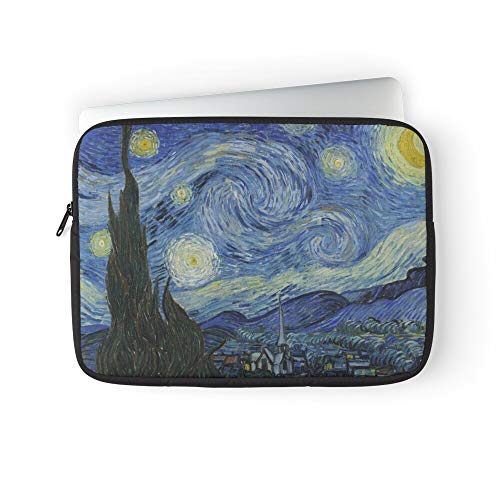 Van Night Vincent Starry Gogh Laptop Sleeve Bag Compatible with MacBook Pro, MacBook Air, Notebook Computer, Water Repelle