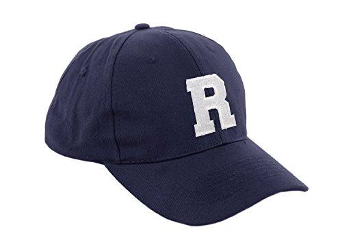 Gorra de béisbol infantil, diseño con letras A-Z, unisex, color azul marino multicolor R Regular