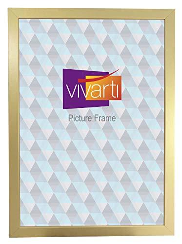 Goudkleurige afwerking, klaar gemaakt fotolijst, A2-formaat, 59,4 x 42 cm