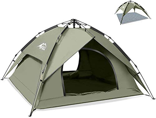 BFULL Instant Pop Up Camping Zelte für 2-3 Personen Familie, Kuppelzelte Wasserdicht Sonnenschutz Backpacking Wurfzelte Schnell Set-up für Camping Wandern Outdoor Aktivitäten