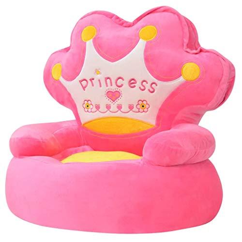 vidaXL pluche kinderstoel prinses roze