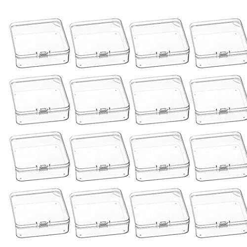 Caja de perlas Contenedores de Almacenamiento pequeña caja de plástico transparente con tapa para pequeños artículos Crafts píldoras joyería 12PCS style3, Caja de almacenamiento