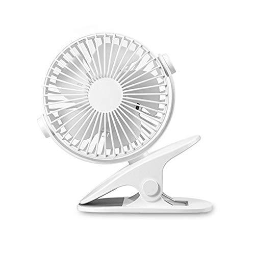 Etase DC5V 1000Mah 4W Ventilador de Clip USB de Carga 360 Grados Giratoria Oficina Conveniente Cochecito Ventilador de Clip Ventilador Conveniente