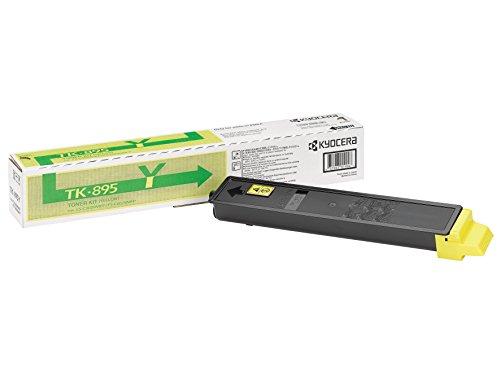 Kyocera TK-895Y Original Toner-Kartusche Gelb 1T02K0ANL0. Kompatibel für FS-C8020MFP, FS-C8025MFP, FS-C8520MFP, FS-C8525MFP