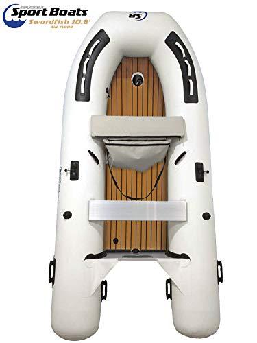 Inflatable Sport Boats - Swordfish 10.8' - Model SB-330A - 2020 Model - Air Deck Floor Premium Heat Welded Dinghy with Seat Bag