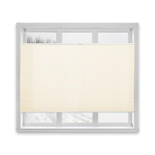 Floordirekt Plissee Rollo Magic | moderner Sichtschutz | Fensterrollo mit Klemmfix ohne Bohren | Klemmrollo | 7 Farben & viele Größen (65x100 cm, Weiß)