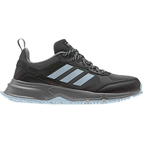 adidas Women's Rockadia Trail 3.0 Wide Running Shoe, core Black/ash Grey/Grey, 6.5 M US