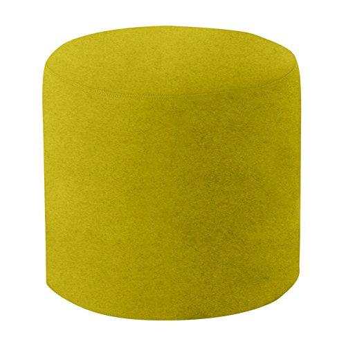 Drum Hocker/Beistelltisch M, gelb-grün Stoff Felt 847 H 40cm Ø 45cm