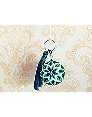 Craft + Diy Temari Keychain Ball Kit, colgante de bolsa, decoración de llavero, juego de borlas de llavero en blanco, bola de llavero para una bolsa o adornos de llave