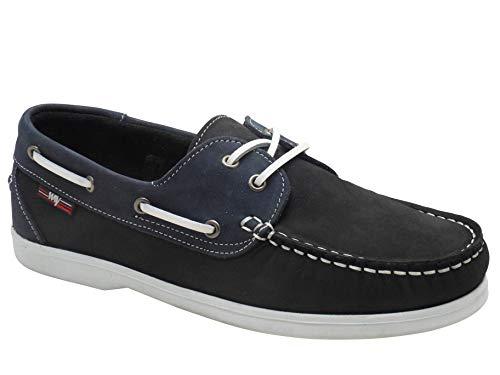 Beppi Damen Leichtgewichts Leder Bootsschuhe Marineblau/Blau EU 36