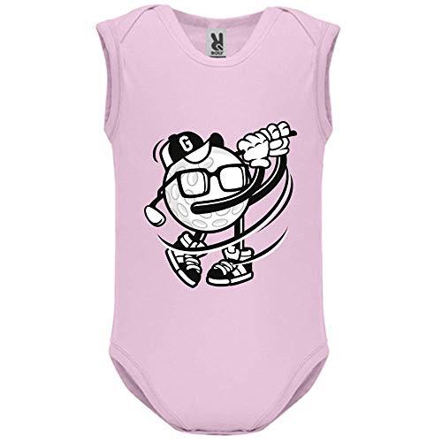 LookMyKase Body bébé - Manche sans - Golfer - Bébé Fille - Rose - 6MOIS