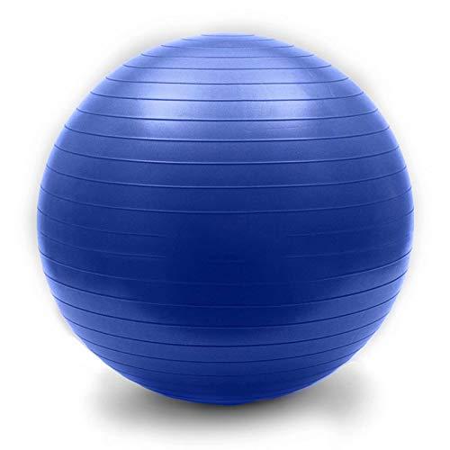 WTXDDQ Mini bola de ejercicio, yoga, entrenamiento de núcleo y bola de equilibrio antideslizante con bomba de pie rápida, azul, 85 cm
